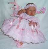 Pink Dress + Headband Will Fit 0-3 Months Baby