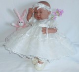 Ivory Dress + Headband Will Fit 0-3 Months Baby