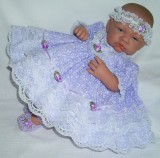 Lilac Dress + Headband Will Fit 0-3 Months Baby