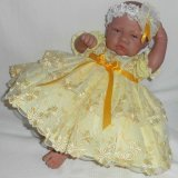 Yellow Embroidered Tulle Dress + Headband