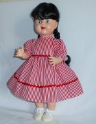 Vintage Style Red Striped Dress