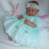Mint Dress + Headband Will Fit 0-3 Months Baby