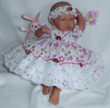 Butterfly Dress + Headband Will Fit 0-3 Months Baby