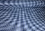Navy Gingham Woven Poly Cotton  Fabric 44